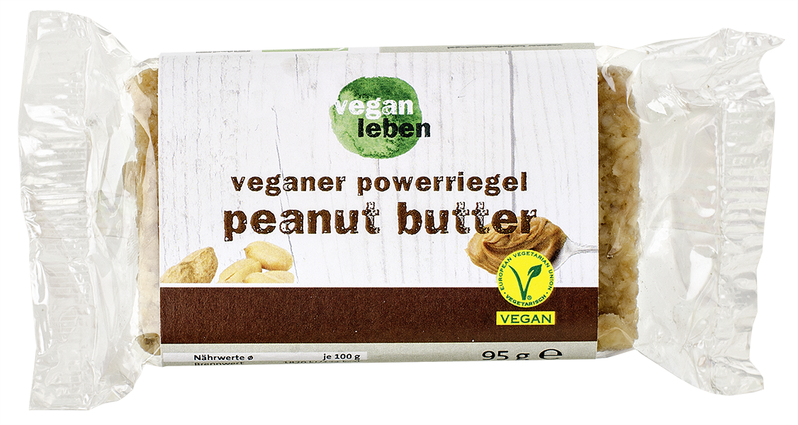veganer powerriegel peanut butter 95 g