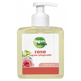 rose, vegane pflegeseife liquid 300 ml