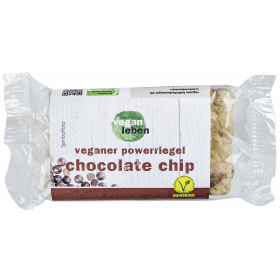 veganer powerriegel chocolate chip 95 g